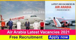 Air Arabia Latest Vacancies 2021