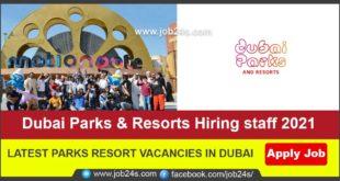 LATEST PARKS RESORT VACANCIES IN DUBAI