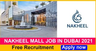 NAKHEEL MALL JOB IN DUBAI 2021