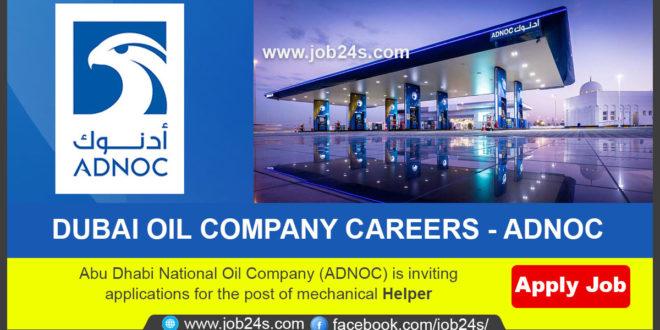 GULF JOBS 2021-DUBAI OIL COMPANY CAREERS – ADNOC