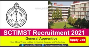 SCTIMST Recruitment 2021 | Freshers | General Apprentice