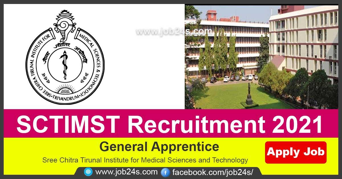 SCTIMST Recruitment 2021   Freshers   General Apprentice