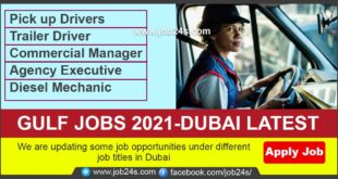 We are updating some job opportunities under different job titles in Dubai